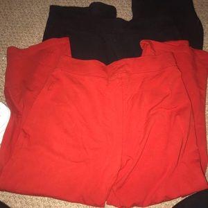2 pairs of moda international yoga pants